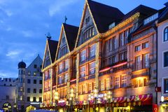 München Beieren, Kerstmis het Winkelen Royalty-vrije Stock Foto's