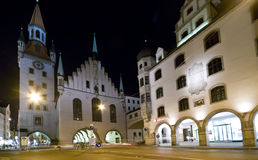 München bij nacht Stock Foto's