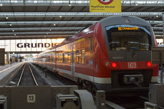 München, Deutschland am 27. August 2014: MÃ-¼ nchen Hauptbahnhof Lizenzfreie Stockfotografie