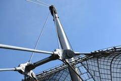 München, Deutschland - 31. Juli 2015: Das Olympiastadion München Lizenzfreie Stockfotografie