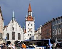 München, Deutschland - 29. Mai 2012: Alte Rathaus auf dem zentralen Platz von München- und Gebäude15. jahrhundert München, Deutsc Stockfotos
