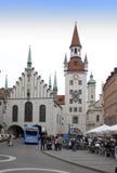 München, Deutschland - 29. Mai 2012: Alte Rathaus auf dem zentralen Platz von München- und Gebäude15. jahrhundert München, Deutsc Stockbild