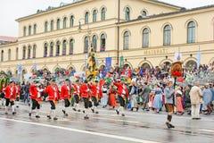 München, Deutschland, am 18. September 2016: Die traditionelle Kostüm-Parade während Octoberfest 2016 in München Stockfotos
