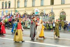 München, Deutschland, am 18. September 2016: Die traditionelle Kostüm-Parade während Octoberfest 2016 in München Lizenzfreie Stockfotos
