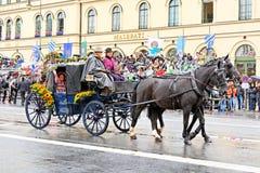 München, Deutschland, am 18. September 2016: Die traditionelle Kostüm-Parade während Octoberfest 2016 in München Lizenzfreie Stockbilder