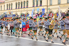 München, Deutschland, am 18. September 2016: Die traditionelle Kostüm-Parade während Octoberfest 2016 in München Stockfotografie