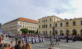 München, Deutschland - 22. September 2013 Oktoberfest, Parade damen stockbilder
