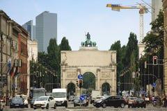 München, Duitsland: Avg 15 2015 - Siegestor (het Engels: Overwinning A royalty-vrije stock foto