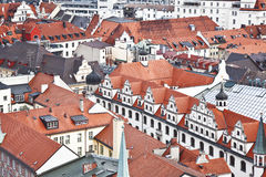 München. Duitsland. Beieren, mening vanaf de bovenkant Stock Foto's