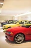 München, Duitsland 17 juni, 2012: Rij van Baanbrekende 3de reeks BMW Stock Foto's