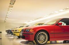München, Duitsland 17 juni, 2012: Rij van Baanbrekende 3de reeks BMW Stock Afbeeldingen