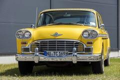 München, Duitsland - Juni 25.2016: Uitstekende Amerikaanse Gele Taxicabine Royalty-vrije Stock Foto