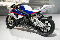 München, Duitsland - Maart 10, 2016: Klassieke motorfiets bij het BMW-Museum en Rand in München Stock Fotografie