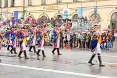 München, Duitsland, 18 September, 2016: De Traditionele Kostuumparade tijdens Octoberfest 2016 in München stock afbeelding