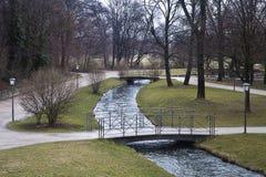 München, Englischer garten im Winter Stockbild