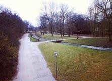 München, Englischer garten im Winter Stockfotos