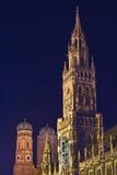 München-Kontrolltürme Stockbild