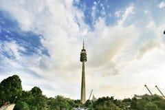 München-olympischer Kontrollturm Stockfoto