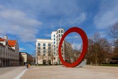 münchen Roter Kreis auf dem Elizenstrasse Stockbild
