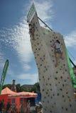 Münchner Sportfestival 2016 am Koenigsplatz, Klettern Royalty Free Stock Images