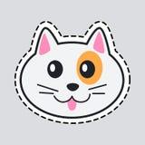 Mündung der Katze Schneiden Sie es aus Ikone des lokalisierten Tieres lizenzfreie abbildung