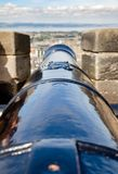 Mündung-Ladenkanone an Edinburgh-Schloss Schottland Großbritannien Stockbild