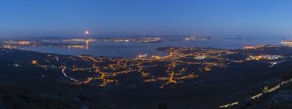 Mündungen Arousa und Barbanza (La Coruna und Pontevedra, Spanien) Stockfotografie