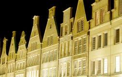 Münster na noite fotografia de stock royalty free