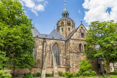Münster St. Bonifatius church in the historic center of Hameln. Germany stock photos