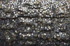 Münze auf Stein Lizenzfreies Stockfoto