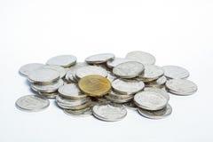Münze auf weißem Hintergrund Lizenzfreies Stockbild