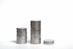 Münze auf weißem Hintergrund Lizenzfreie Stockfotos