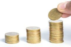 Münze auf weißem Hintergrund Lizenzfreie Stockbilder