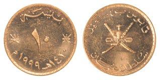 Münze 10 Bewohners von Oman Baisa Stockfotos