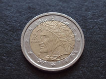 Münze Dante Alighieris EUR Lizenzfreies Stockfoto