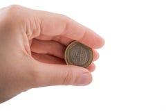 Münze in der Hand Lizenzfreies Stockbild