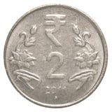 Münze der indischen Rupie 2 Stockfotos