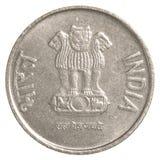 Münze der indischen Rupie 2 Stockbild