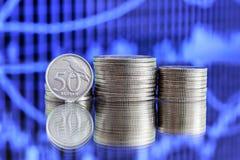 Münze der indonesischen Rupie 50 Lizenzfreie Stockbilder