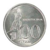 Münze der indonesischen Rupie Lizenzfreies Stockbild
