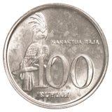 Münze der indonesischen Rupie 100 Lizenzfreies Stockfoto