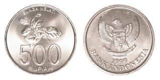 Münze der indonesischen Rupie 500 Lizenzfreies Stockbild