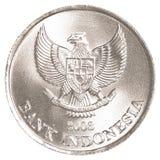 Münze der indonesischen Rupie Stockbild