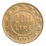 Münze der italienischen Lira Stockbild