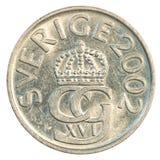 Münze der schwedischen Krona 5 Lizenzfreies Stockfoto