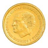 Münze der schwedischen Krona zehn Lizenzfreie Stockfotos