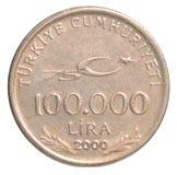 Münze der türkischen Lira Lizenzfreies Stockfoto