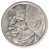 Münze des belgischen Franken 50 Stockfotografie