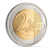 Münze des Euro zwei Lizenzfreie Stockfotos