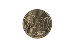 Münze des Eurocents 50 Stockbild